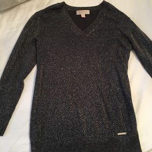 michael kors metallic sweater
